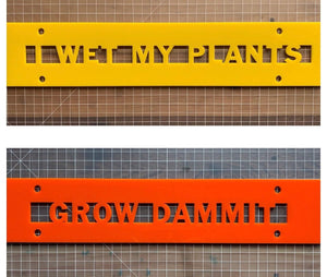 "Funny Garden Sign "" Grow Dammit"" or "" I Wet my Plants"" - Betsy Jane Studios"