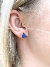 Load image into Gallery viewer, Geometric Earrings | Blue | Small - Betsy Jane Studios