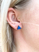 Load image into Gallery viewer, Geometric Earrings | Mint and Walnut | Small - Betsy Jane Studios