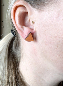 Geometric Earrings | Orange | Large - Betsy Jane Studios