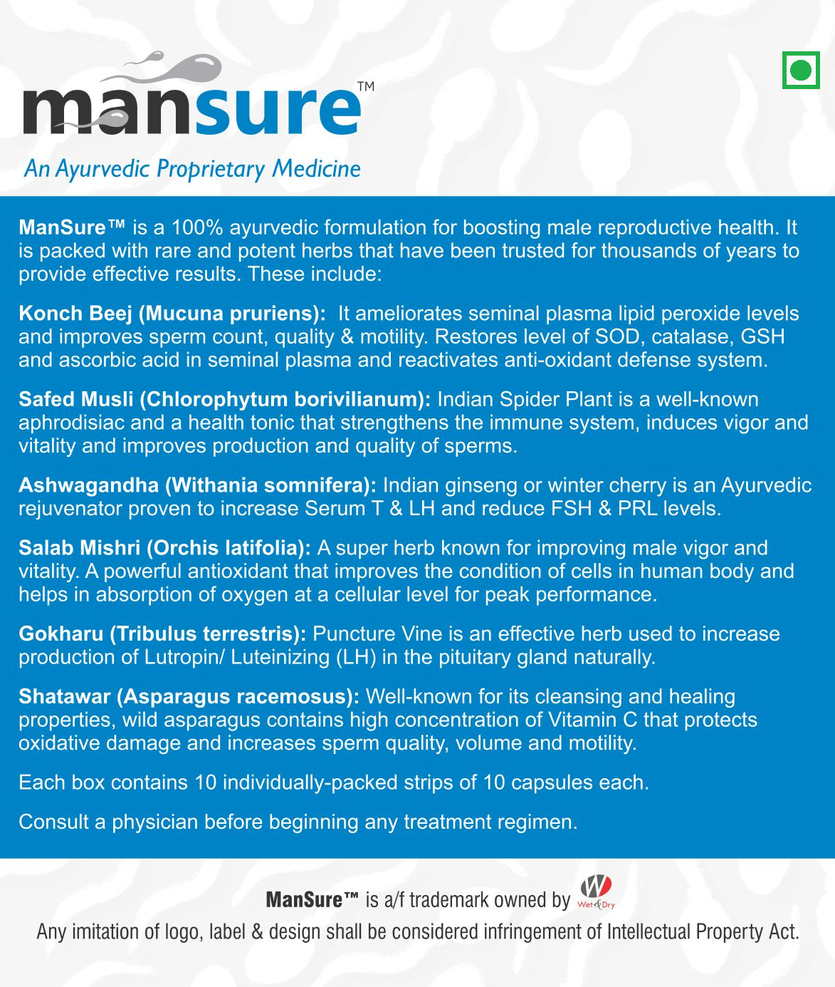 ManSure - Key ingredients and benefits