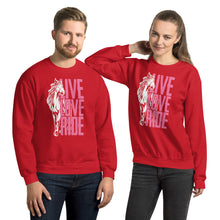 Load image into Gallery viewer, live love ride Unisex Sweatshirt