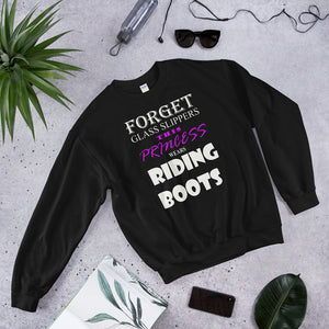 This princess wears BOOTS Unisex Sweatshirt
