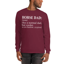 Load image into Gallery viewer, Horse Dad Long Sleeve Shirt