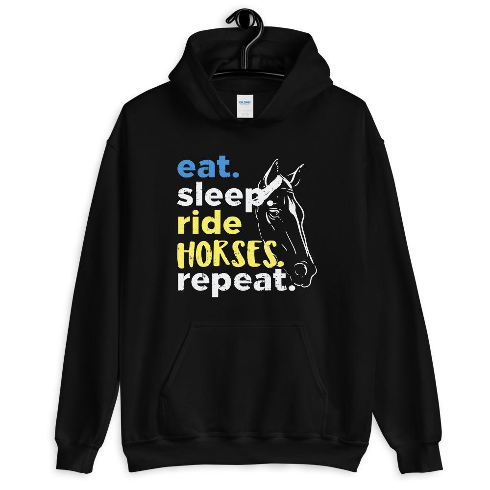 Eat, sleep, Ride Horses Unisex Hoodie - HorseObox