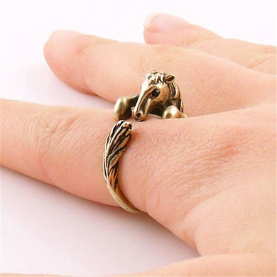 Bronco Horse Animal Wrap Ring - HorseObox
