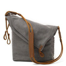 Load image into Gallery viewer, Canvas Leather Vintage Shoulder Bag - HorseObox