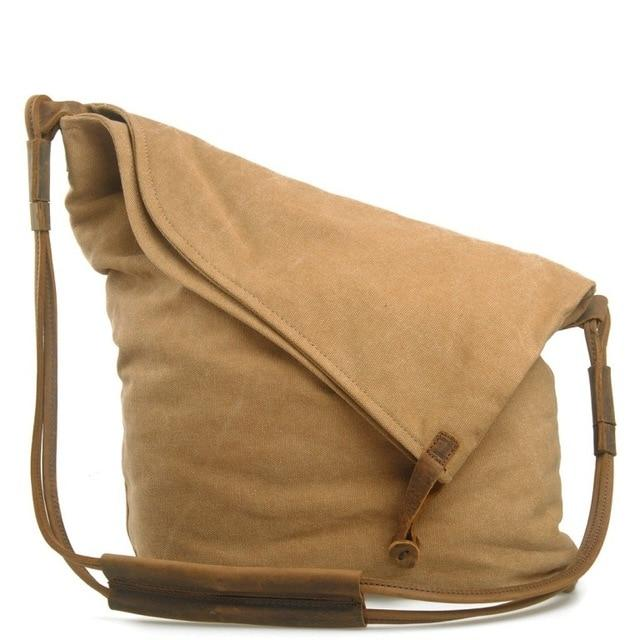 Canvas Leather Vintage Shoulder Bag - HorseObox