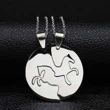 Load image into Gallery viewer, Women Silver Color Couple Necklace Jewelry