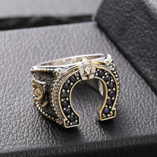 Load image into Gallery viewer, West Cowboy Horseshoe Ring