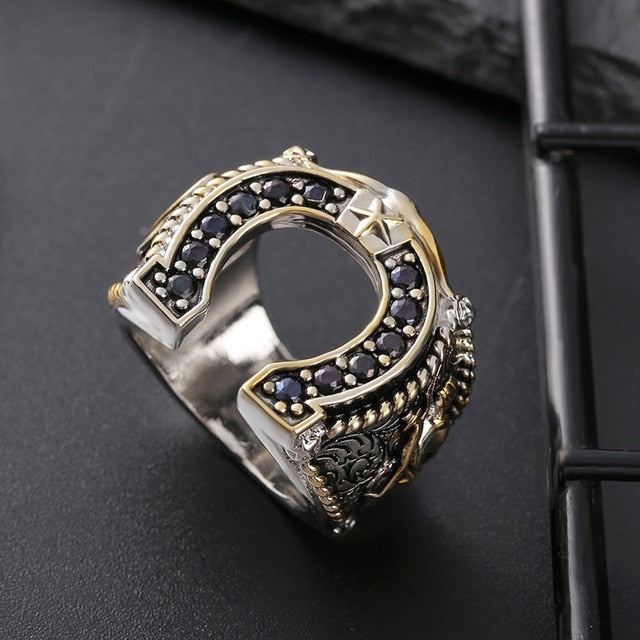 West Cowboy Horseshoe Ring