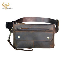 Load image into Gallery viewer, Cowhide Leather Fanny Waist Belt
