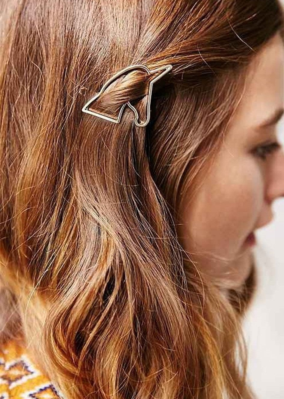 Simple Hollow Unicorn Bridal Hair Clip