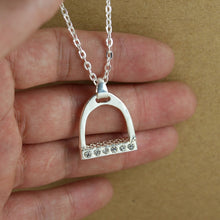 Load image into Gallery viewer, Horse Stirrup Pendant Necklace