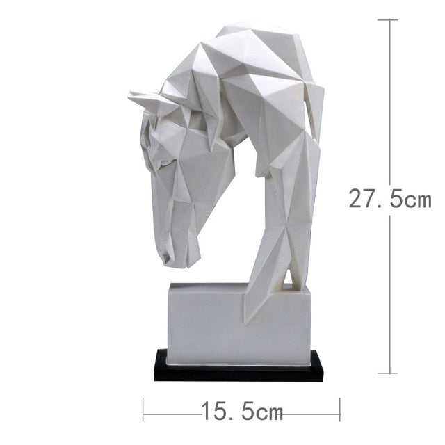 Horse Head Ornaments Decoration Desk Decor Statuette