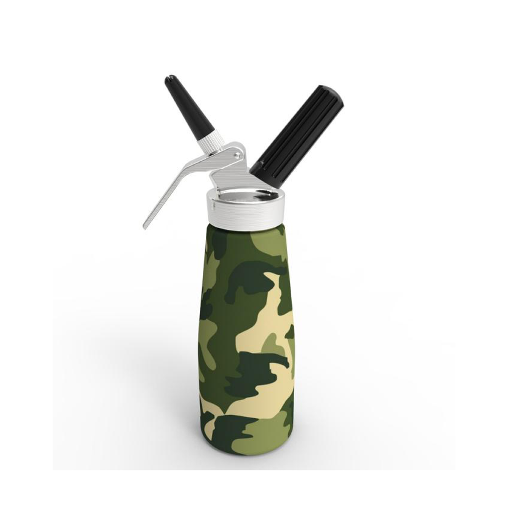 New 2020 Model - QuickWhip Cream Dispenser 0.5L – Green Camo