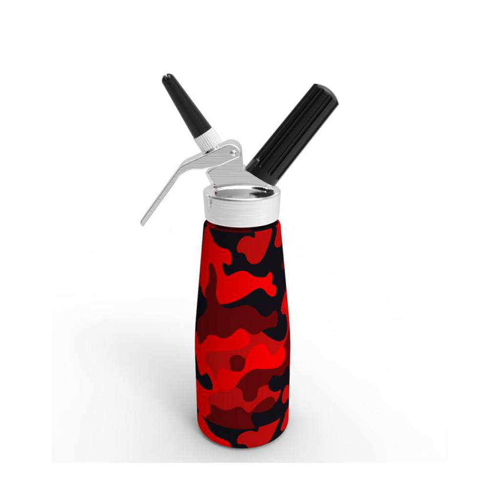 New 2020 Model - QuickWhip Cream Dispenser 0.5L – Red Camo