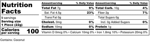 1g Net Carb - Truffle Nutrition Fact