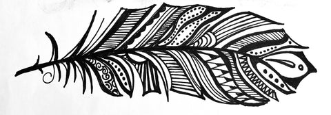 Jan Moore Feather Logo: Inspired by E. Darby Moore 1885-1945