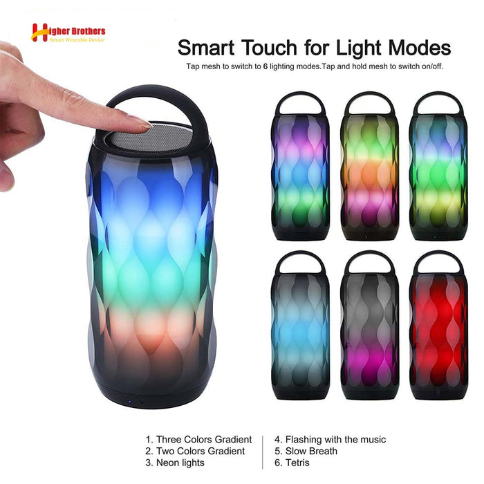 Portable LED Colorful Wireless Bluetooth Speaker with TF Card