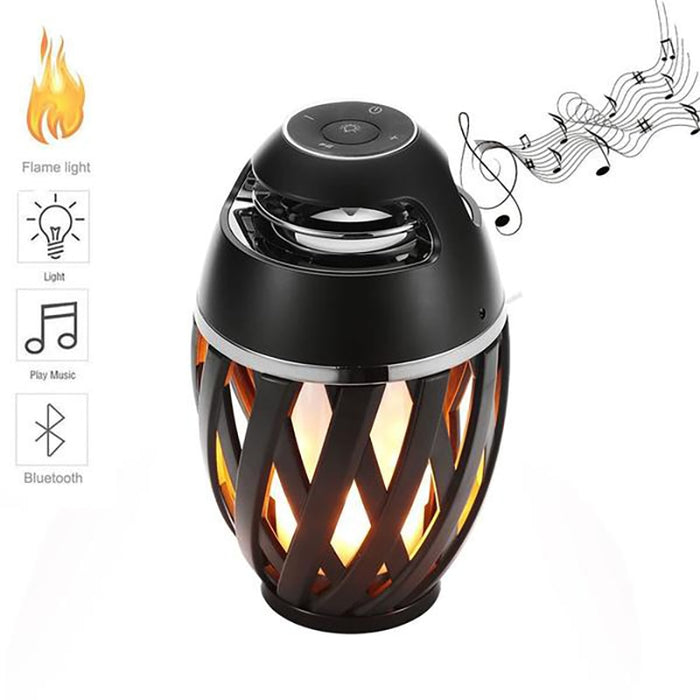 USB Led Flame Lights Bluetooth Speaker