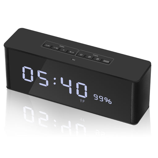 Wireless Bluetooth Speaker with LED Time Display & Alarm