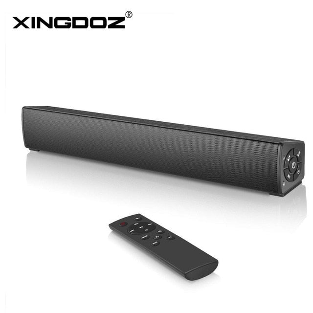 Mini PC Sound Bar with 3a.5mm AUX Input and Wireless Bluetooth