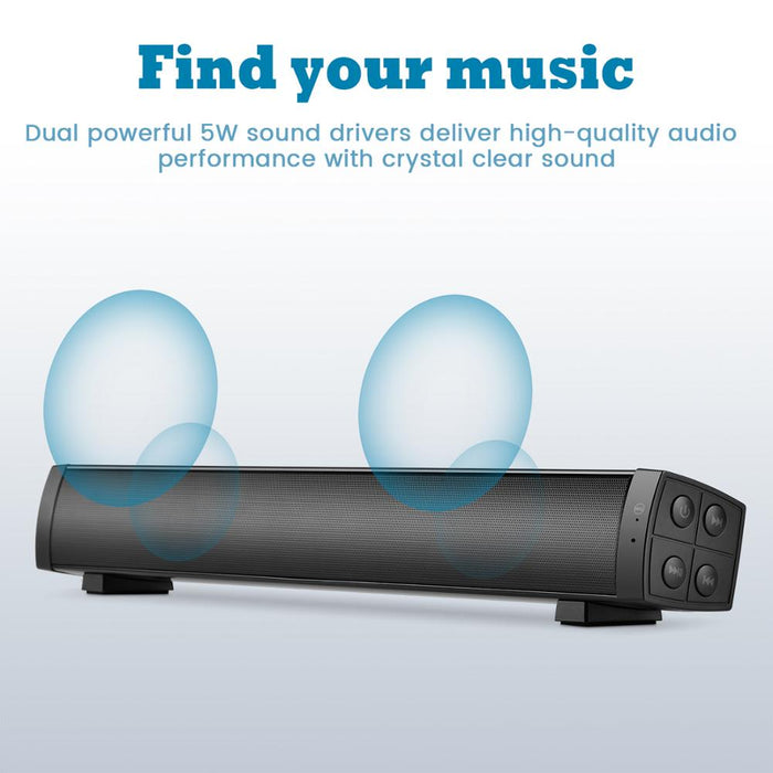 Bluetooth Soundbar with Remote Control