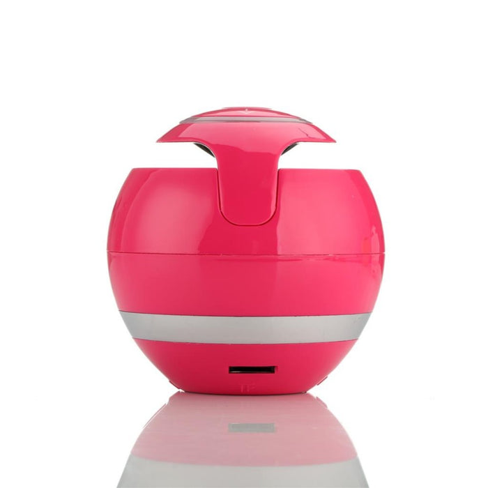 Mini Portable Wireless Bluetooth Speaker with LED Light and Mic