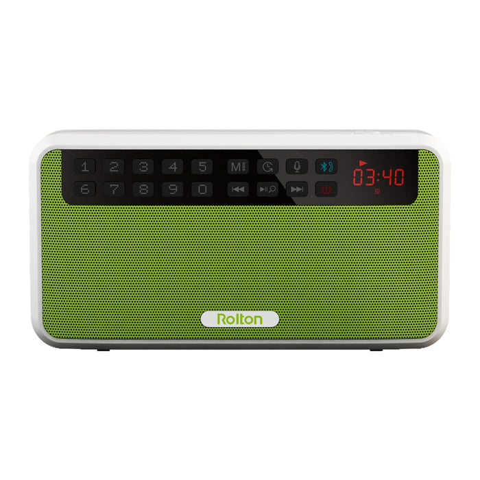 Portable Stereo Bluetooth Speaker with FM Radio & Clear Bass