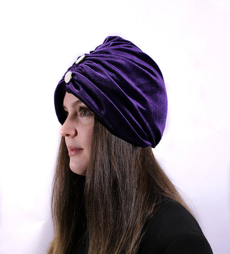 TURBANTE MISS CON BOTTONI - Zina Italia
