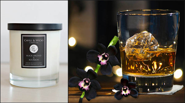 Cavill and Wicks Black Orchid and Bourbon Luxury Candle