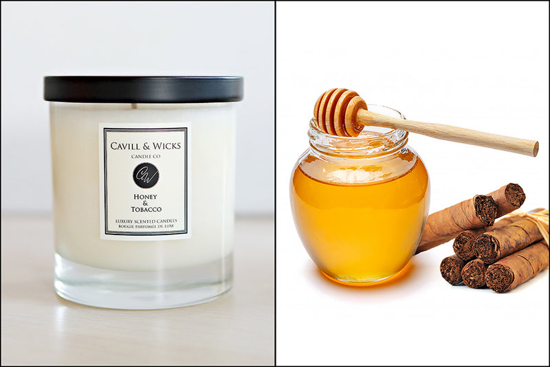 Cavill and Wicks Honey and Tobacco Luxury Candle