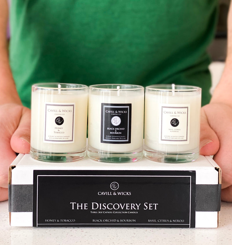 The Discovery Set - Three 3oz Capsule Collection Candles