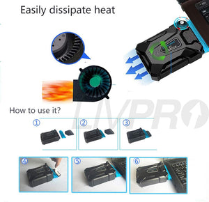 LIVPRO - Laptop USB Portable Cooler with Anti-Heat Vacuum