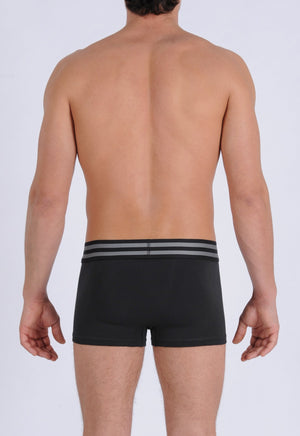 Ginch Gonch Signature Series - Trunk, short boxer brief - Black men's underwear thick printed waistband back