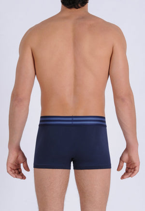 Ginch Gonch Signature Series - Trunk, short boxer brief - Navy men's underwear thick printed waistband back