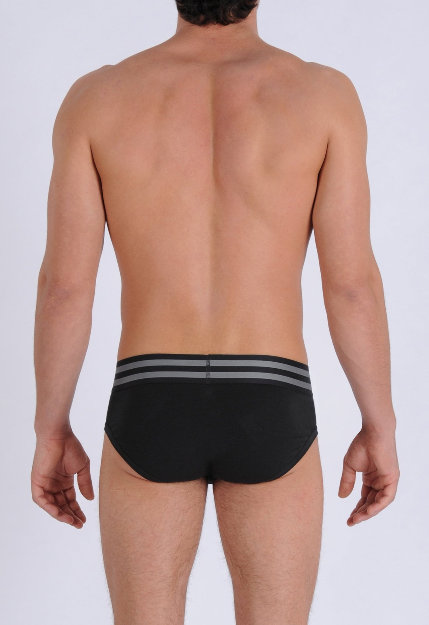 Ginch Gonch Men's Signature Series Underwear - Low Rise Brief Black thick waistband back