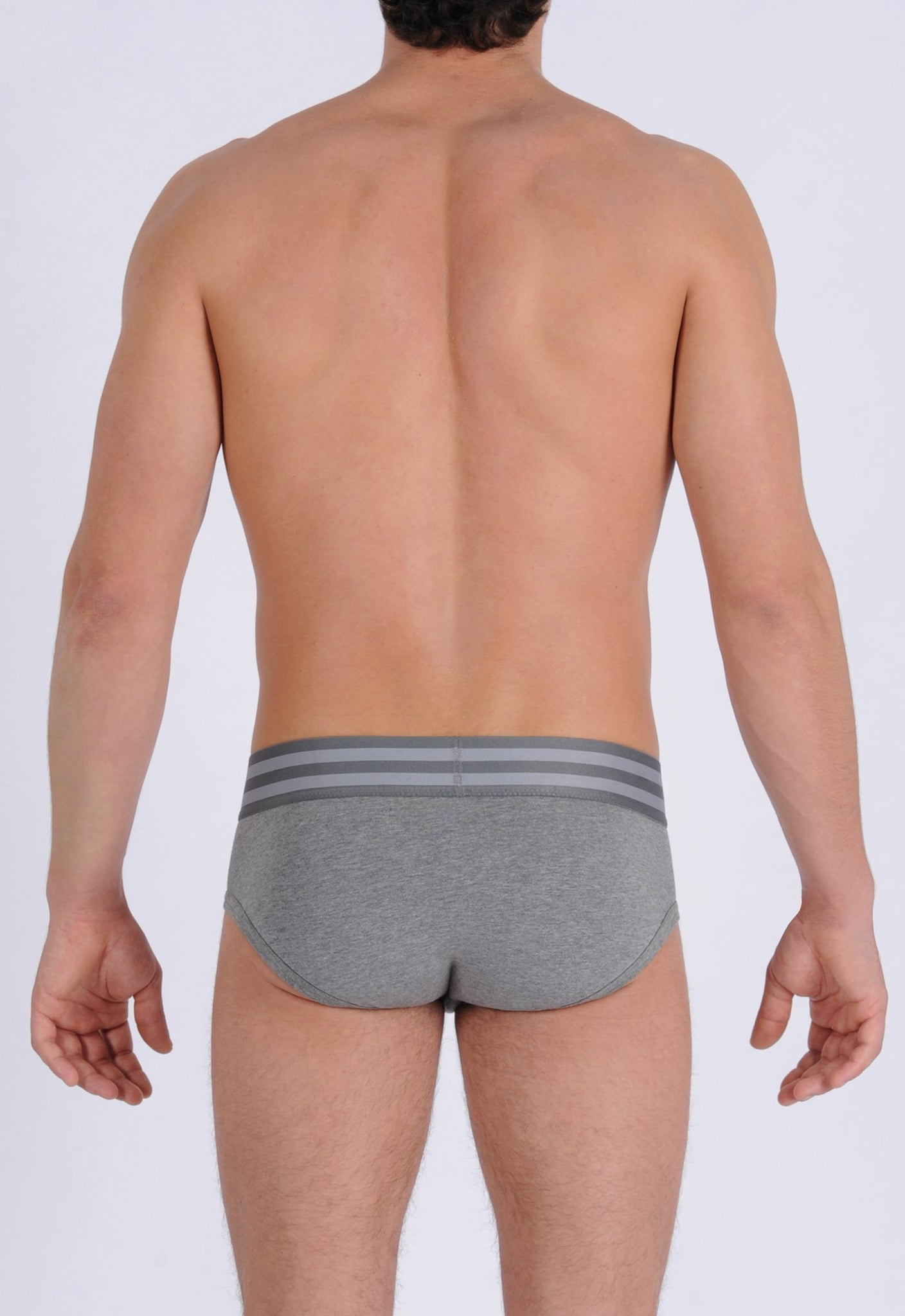 Ginch Gonch Men's Signature Series Underwear - Low Rise Brief grey printed thick waistband back