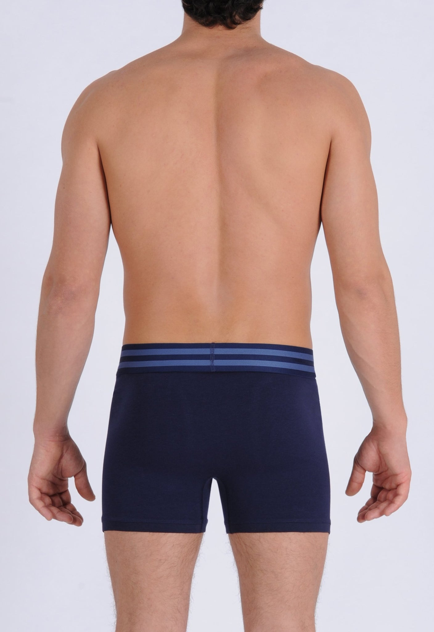 Ginch Gonch Signature Series - Boxer Brief - Navy Men's underwear boxer brief trunk printed waistband back