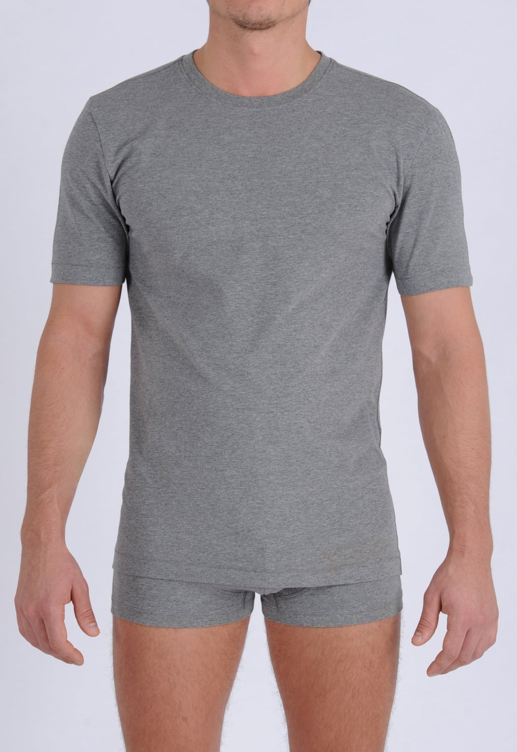 Ginch Gonch Signature Series - Crew Neck T-Shirt Grey Front
