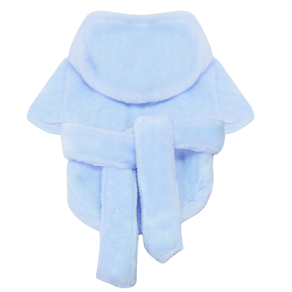 Pet Blue Bathrobe