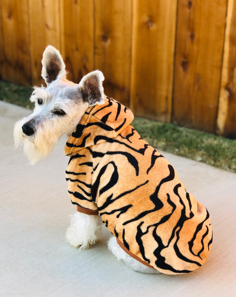 Tiger Print Pet Coat