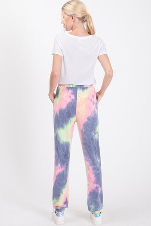 Charcoal Tie Dye French Terry Joggers