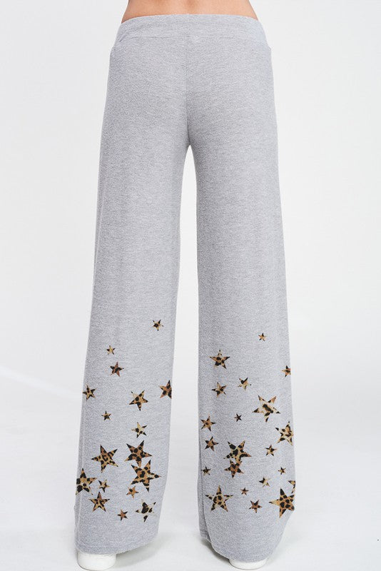 Leopard Star Loungewear Set Grey