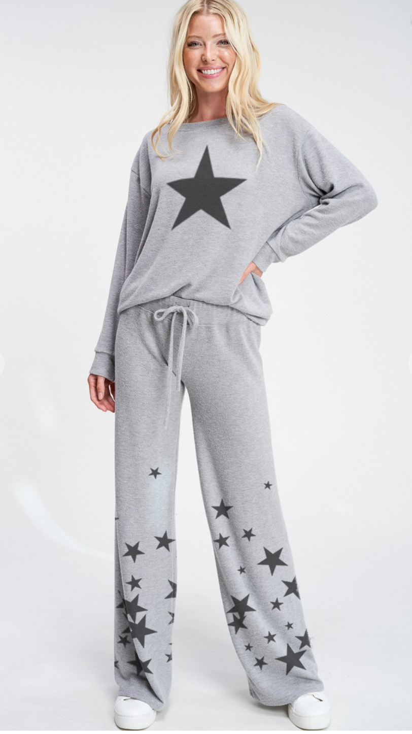 Ombre Star Loungewear Set Grey