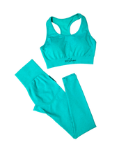 Load image into Gallery viewer, Go Get It Mint Green Seamless Set - Her Dope Shine