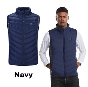 Electric Heated Vest Men Women Heating Waistcoat Thermal Warm Clothing Usb Heated Outdoor Vest Winter Heated Jacket - 5econds.co