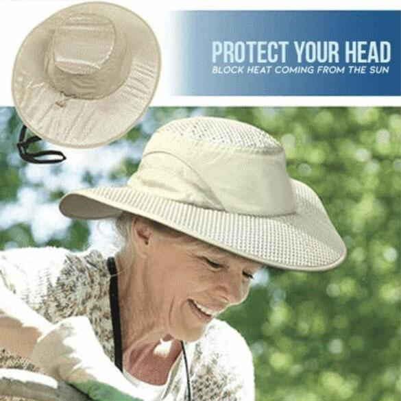 Sunstroke Prevented Cooling Hat - Hot Summer Wide Brim Sun Hat UV Protection Arctic Cap Hat Ice Cap