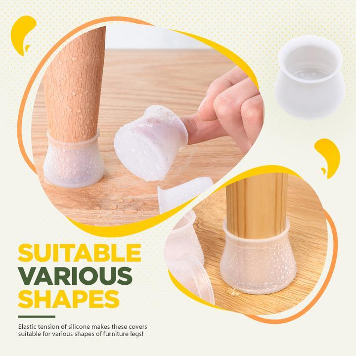 Furniture Silicon Protection Cover - Table Chair Leg Floor Feet Cap Cover Protector Feet Pads Non-slip Foot Protection Bottom Cover - 5econds.co